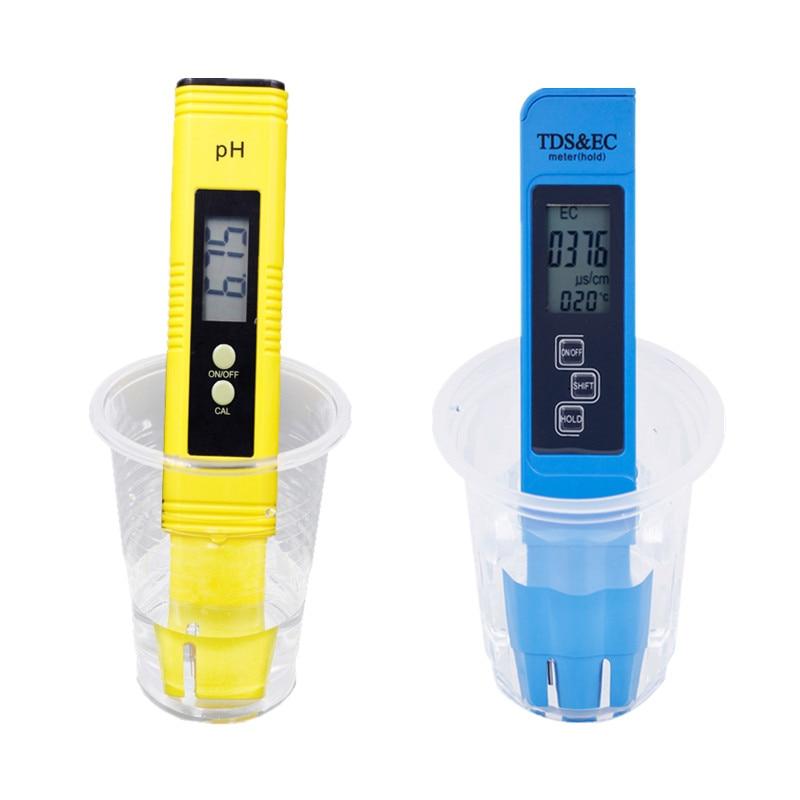 2 pz Digital 0.0-14.0 PH del Tester del tester-9990ppm LCD Digitale TDS ce Purezza Dell'acqua PPM Filtro Acquario 20% off