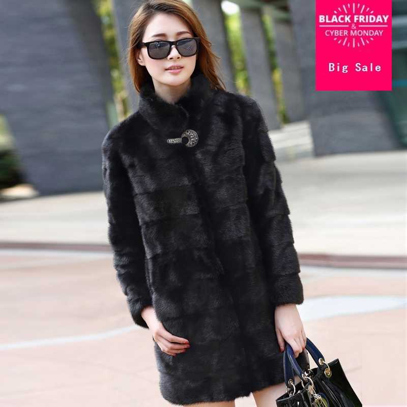 f65499a794b S-3XL plus size fake fox fur coat 2018 new Winter Artificial Black White  Faux