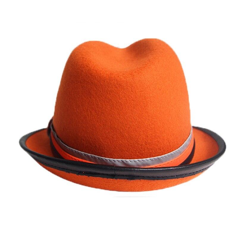 FS Vintage Larga Degli Uomini del Bordo Fedora in Lana Inverno Cappelli di  Feltro Inghilterra Classico Viola Arancione Cappello di Feltro Uomo Autunno  ... 299b939a9891