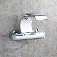 SOVECHO настенный ванна кран смеситель для душа подвергается клапан на латунь ванной кран Ванная комната коснитесь TL029