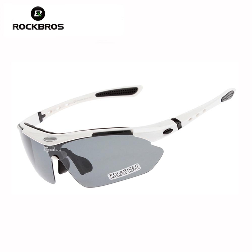 RockBros Unisex Polarized Bicycle Riding Sun Glasses TR90 Sports Glasses Outdoor Cycling Eyewear 5 Lens