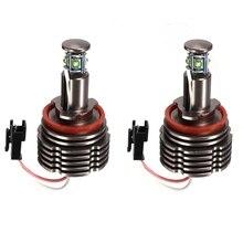 2 Pcs 40W H8 LED Angel Eyes Light  6500k H8 For BMW E60 E61 E63 E64 E70 E71 E72 E87 E89 Z4 E90 E91 E92