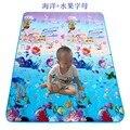 Almofada do jogo do bebê. crianças rastejando cobertor dupla face/tapetes de jogo Infantil/bebê engatinhando tapete subida pad 180*200 CM de espessura 0.5 CM