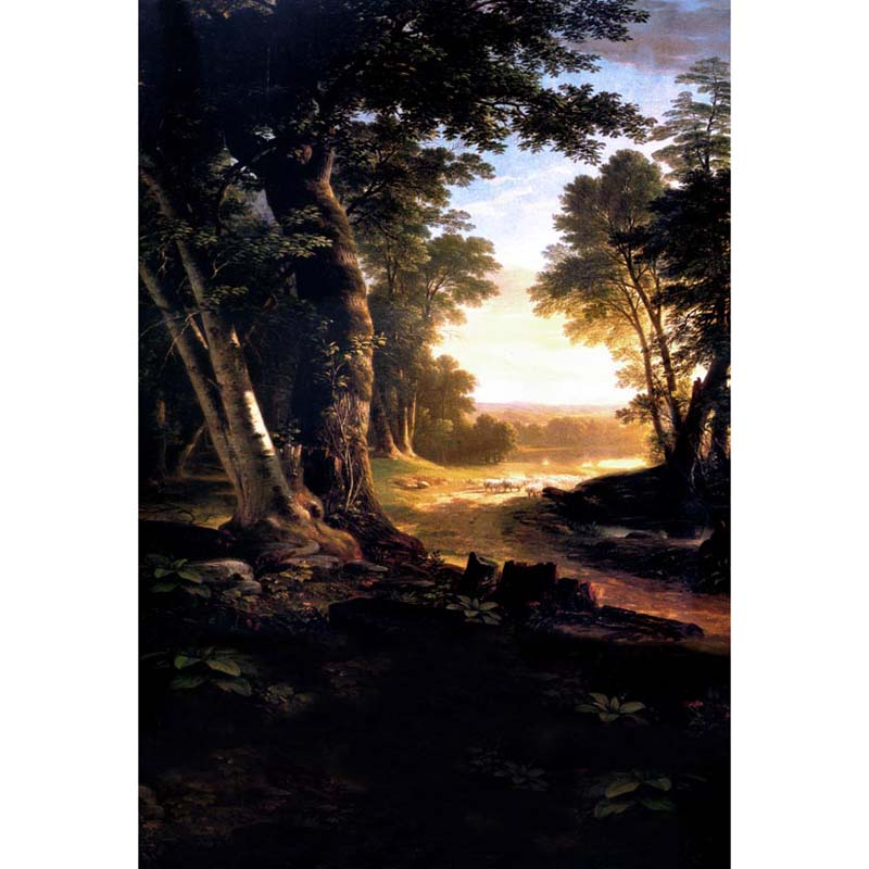 Customize washable wrinkle free rococo painting style forest photography backdrops for photo studio portrait backgrounds S-1250