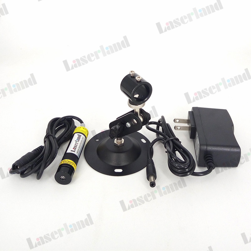 16*68mm 780nm 100mW IR Infrared DOT LINE CROSS Focusable Laser Module Glass Lens + Adapter +mount