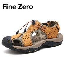 2017 Мужские Из Натуральной кожи Босоножки Повседневная Обувь На Открытом Воздухе Сандалии Воды Рыболовные Обувь Пляжные Шлепанцы Zapatos Masculino