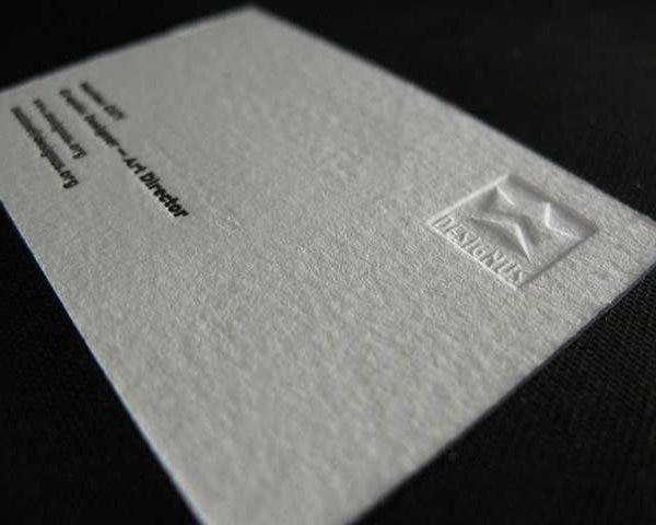 Textur Baumwolle Benutzerdefinierte Papier Visitenkarten