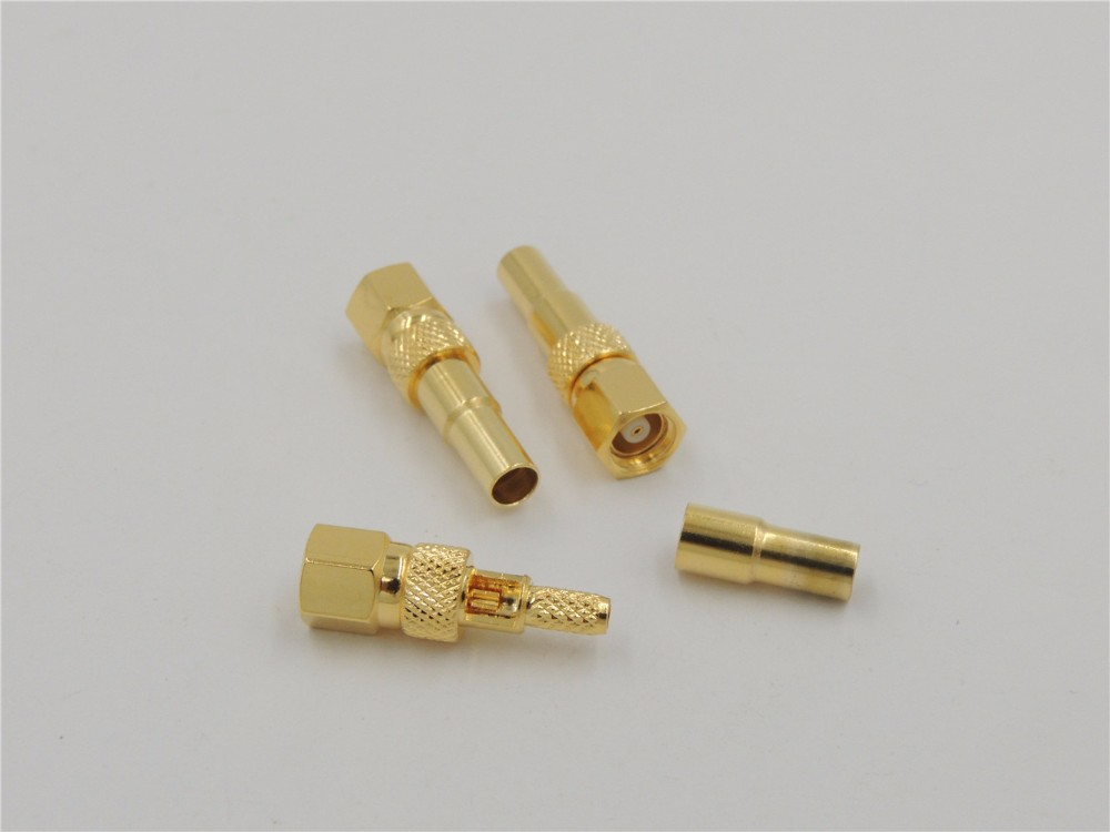 100pcs SMA Male Straight Crimp RF Connector for RG174 RG179 RG316 RG188 Cable US