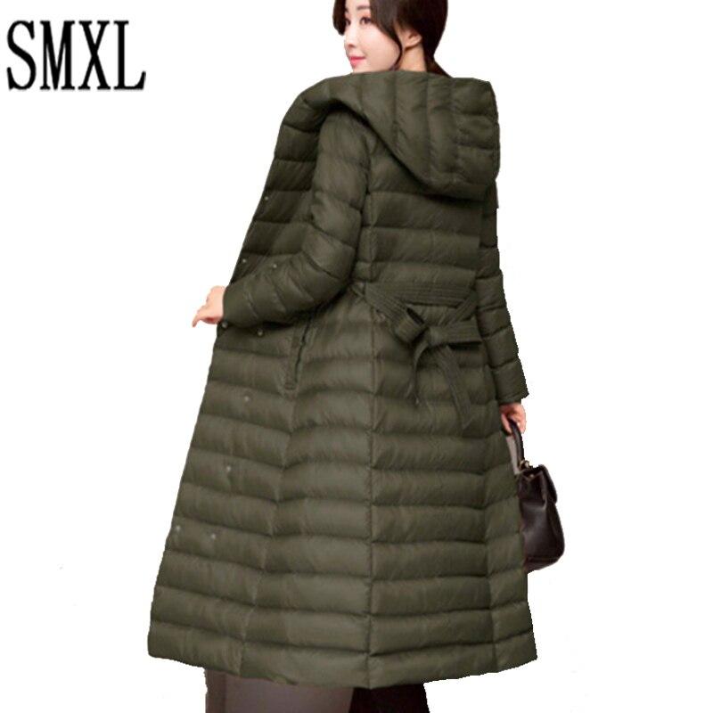 add Winter thick x-long Down Jacket Duck Down Hooded new Jackets women Ultra Warm Slim Coats Parka Female Solid Outwear Luxury