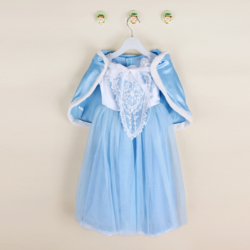 Baby Girls Dresses Princess Dress+Shawl Fairy Tail Toddler Baby Wedding Party Sheer Dress Cosplay Costume Clothes for 4-8Y baby dress shawl girl princess dress