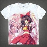 Touhou Project Remilia Scarlet cosplay camiseta Hakurei Reimu anime Japonés psíquica camiseta de Los Hombres de diseño Único Regalo de la camiseta