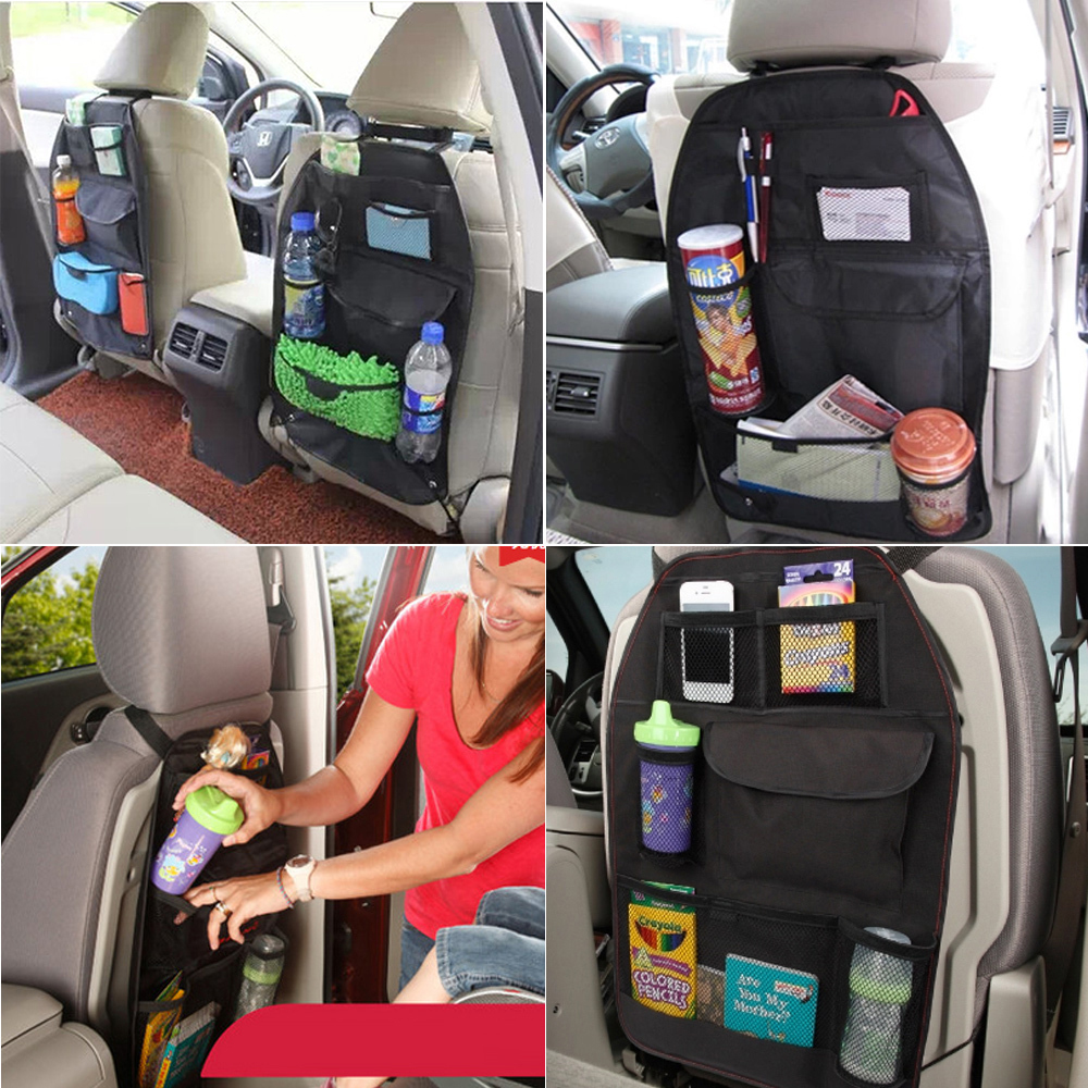Car Seat Back Bag Storage Organizer Drinks Holder For Gmc Acadia Envoy Terrain Yukon Luxgen 5 7 Suv U6 Turbo U7 Turbo