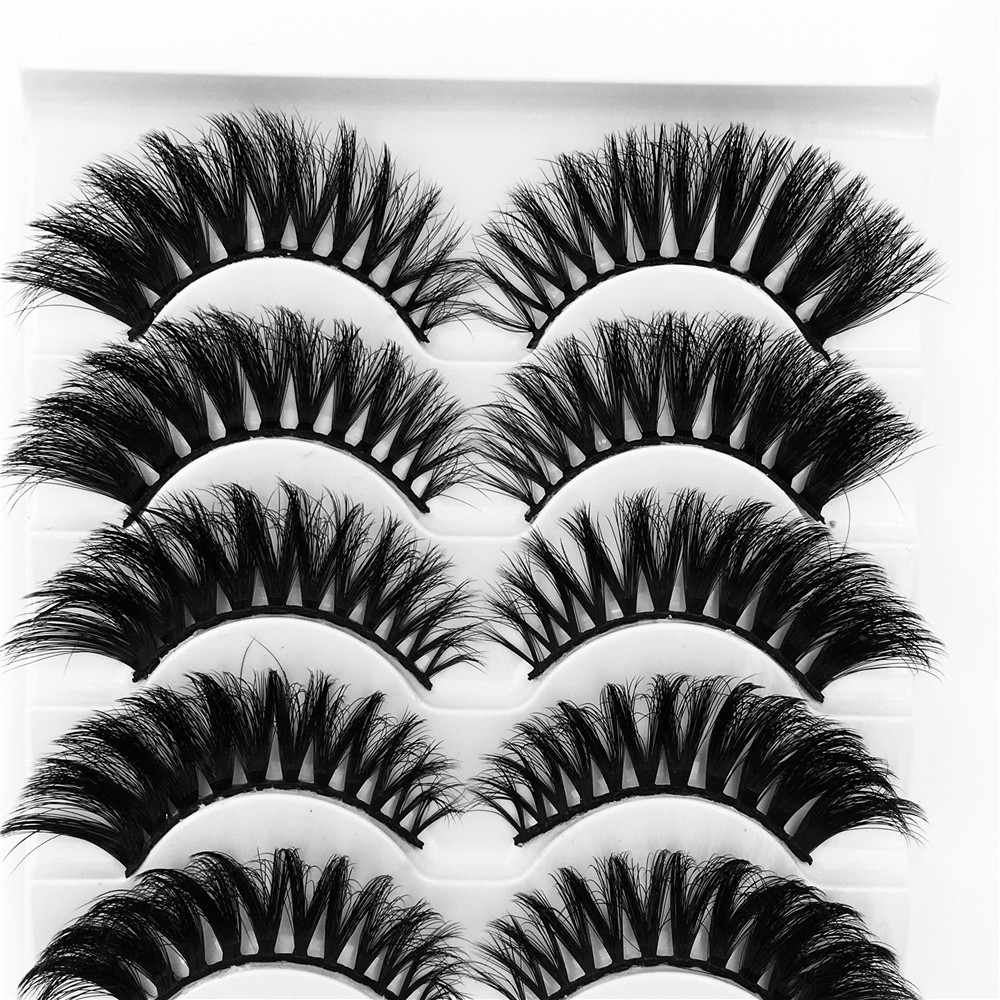 US $0.92 34% OFF|5 Pairs Luxurious Mink Hair False Eyelashes Thick Curled Full Strip Lashes Eyelash Extension Fashion Women Eyes Natural Makeup-in False Eyelashes from Beauty & Health on Aliexpress.com | Alibaba Group