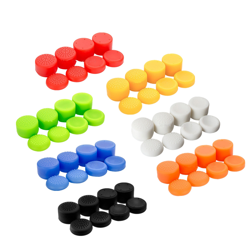 8Pcs Set Enhanced Analog Joystick Grips Cover Cap For Sony PS4 Game Controller