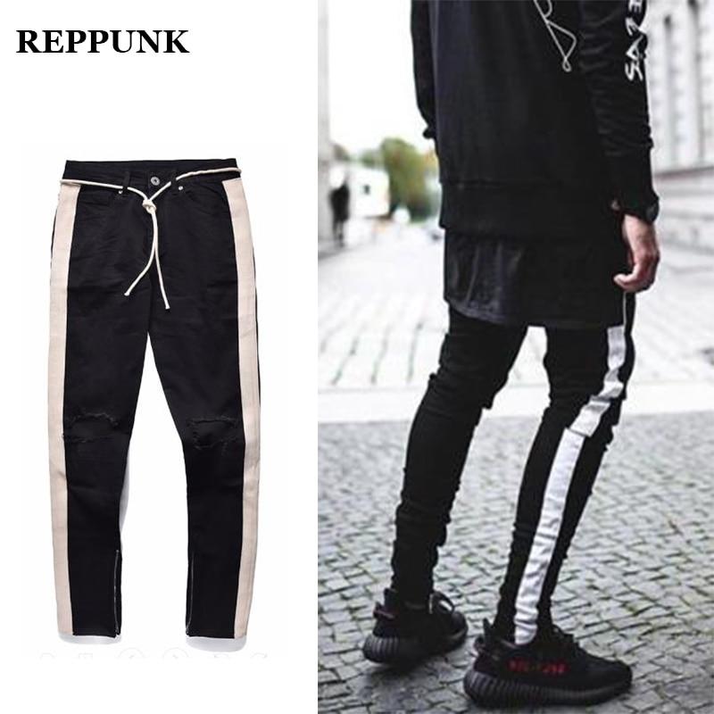 Back To Search Resultsmen's Clothing Supply Skinny Biker Jeans Men Multi-pocket Bandage Slim Cargo Joggers Trousers For Men Motorcycle Hip Hop Streetwear Swag Denim Pants Online Shop