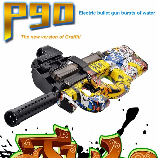 P90 Electric Toy Gun Paintball Live CS Assault Snipe Weapon Soft Water Bullet Pistol with bulletsToys For Boy Weapons toy pistol
