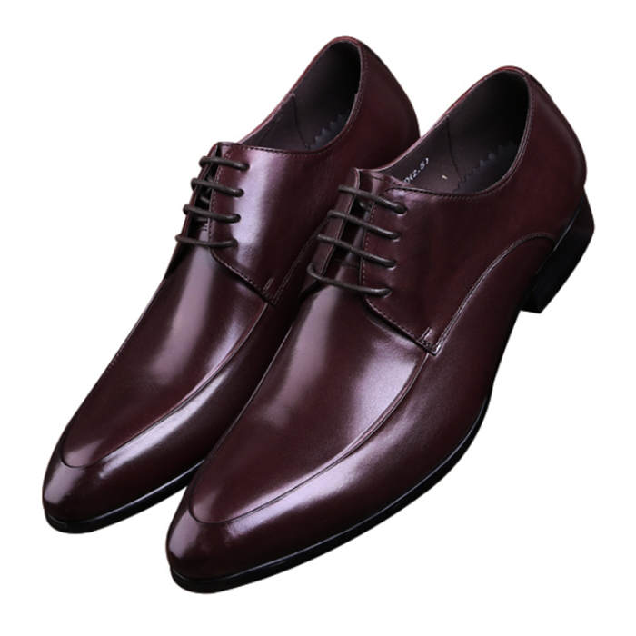 Fashion Black / Brown Tan Pointed Toe Socia Shoes Mens Business Shoes Genuine Leather Derby Dress Shoes Male Wedding Groom Shoes classic men s genuine leather shoes cowhide leather pig inner pointed toe derby dress wedding business shoes 2018 fashion