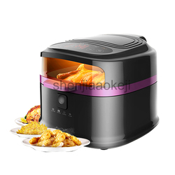 8L Large Capacity Intelligent Electric Fryer Multi-functional Fries Machine Household Non-Oil Electric Deep Air Fryer 1200w 220v