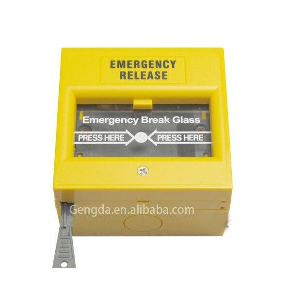 Emergency Break Glass Fire Alarm Yellow Emergency Door Release On