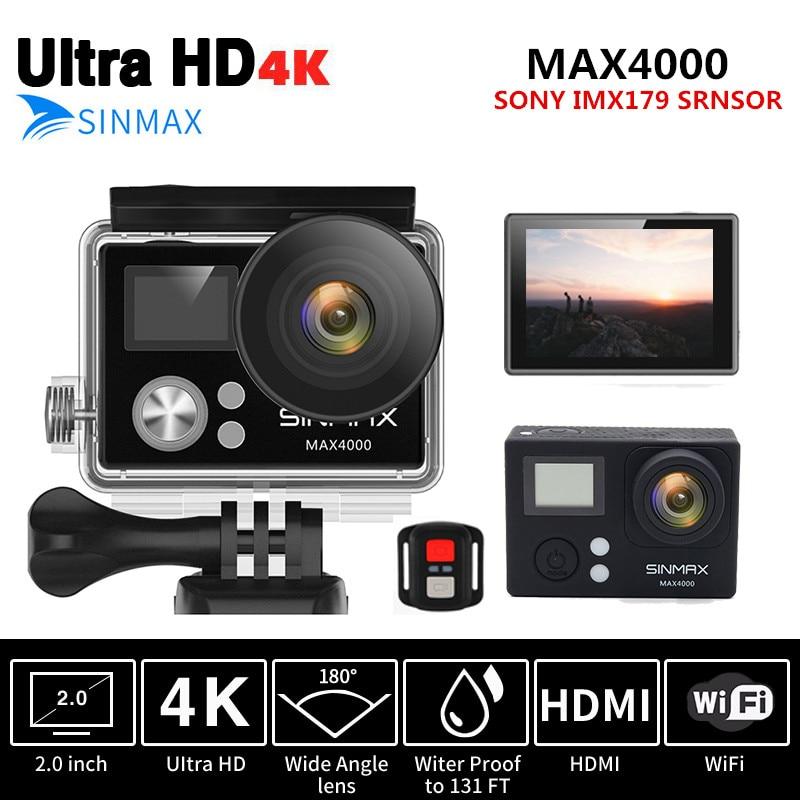 Remote Controller Action Cam Ultra HD 4K 30fps WiFi 2 0 170D Go Waterproof Pro Helmet