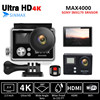Remote Controller Action Cam Ultra HD 4K 30fps WiFi 2 0 170D Go Waterproof Pro Helmet