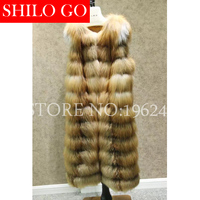 2019 Fashion New Autumn And Winter Women High quality Luxury Temperament Beauty Lengthened Red Fox Fur Sleeveless Vest Jacket