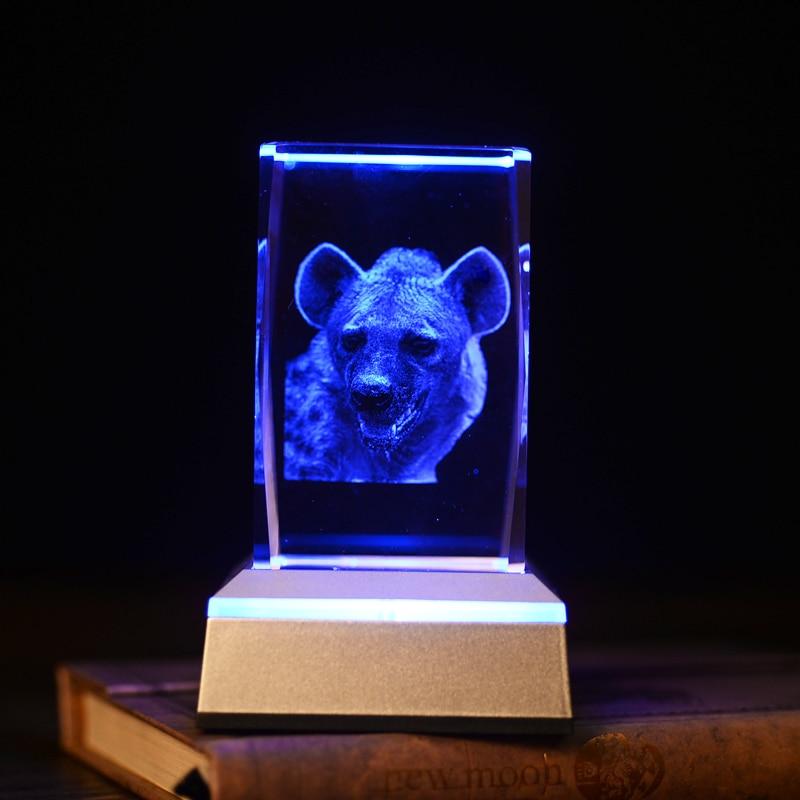 Veilleuse en cristal en forme de léopard animal 3D en cristal pour - Veilleuses - Photo 2