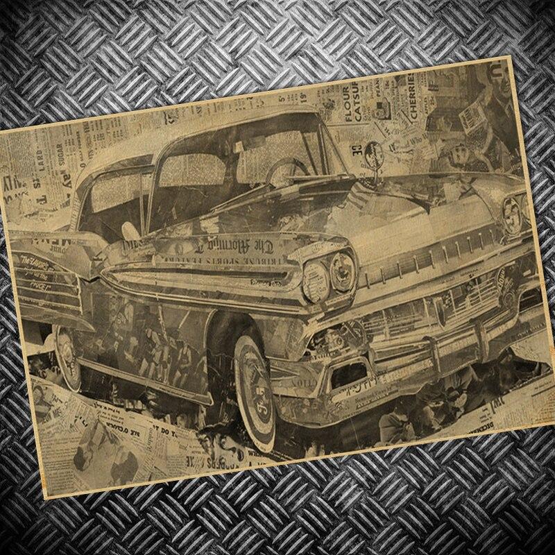 885c76873d92e Envío Gratis car Ruta 66 cartel de película de papel vintage Marte retro  Pintura Sala decoración 42x30 cm
