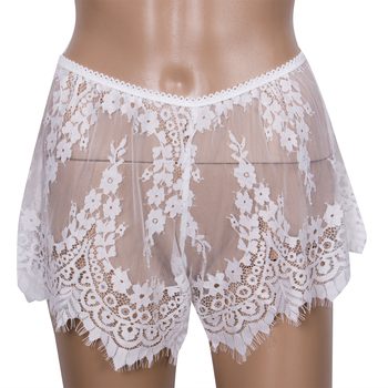 New Arrivals Women Ladies Sexy Lace Shorts Bottoms High Waist Beach Short Solid White Sleepping Bottoms Hot Sales Шорты