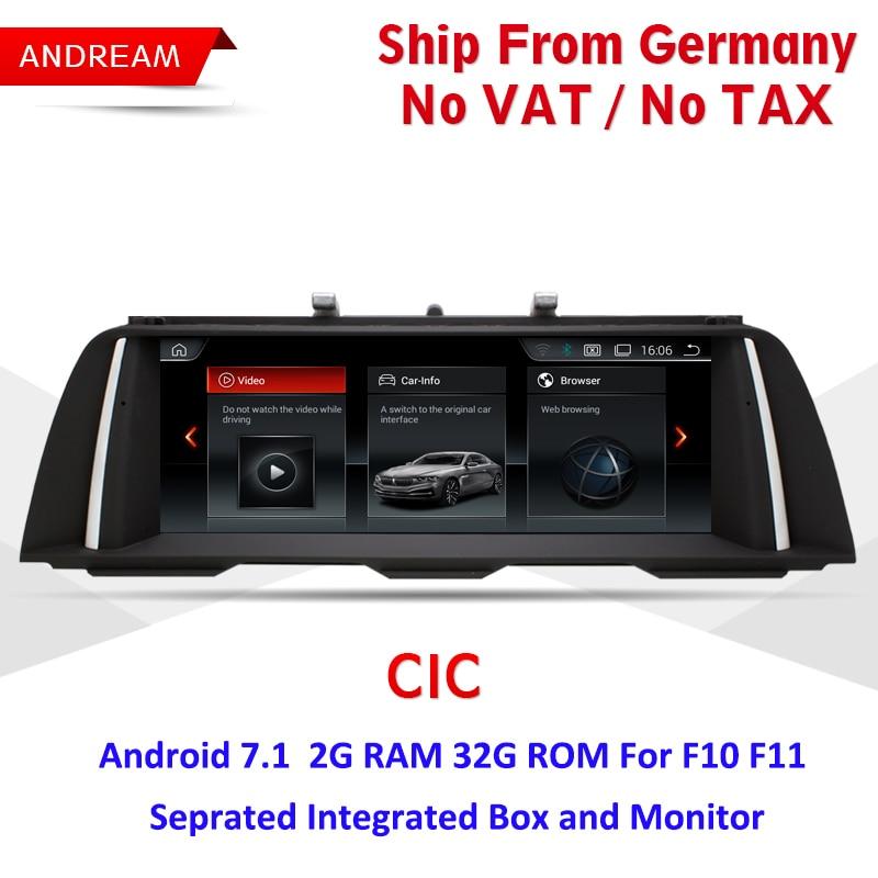 Android 7.1 GPS Navigation 10.25 IPS Écran Lecteur Multimédia Pour BMW Série 5 F10 F11 EW964B-CIC
