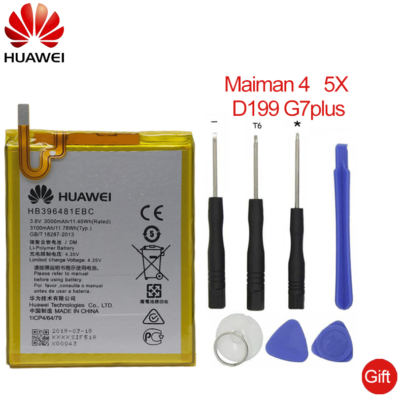 G8 G8x Honor 5a 5x Audacious Hua Wei Original Replacement Phone Battery Hb396481ebc For Huawei Ascend G7 Plus Maimang 4 3000mah Diversified In Packaging
