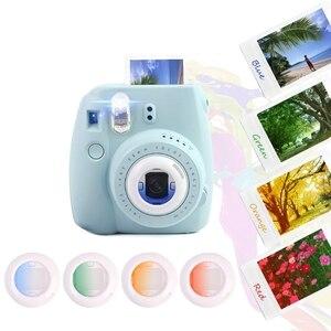 Image 1 - 4 قطعة مجموعة مرشح عدسة إغلاق ل Fujifilm Instax Mini 8 8 + 9 7s kt فيلم فوري ملحقات كاميرا بولارويد ملونة