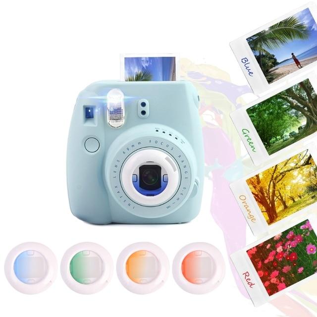 4 قطعة مجموعة مرشح عدسة إغلاق ل Fujifilm Instax Mini 8 8 + 9 7s kt فيلم فوري ملحقات كاميرا بولارويد ملونة