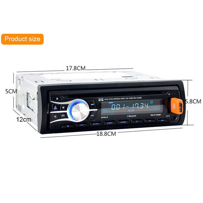 2018 Auto Parts CD Player Displayer High Definition Car Radios with Navigation DVD Player Car Bluetooth MP3/FM Radio Function