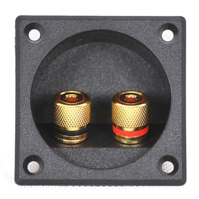 10st Högkvalitetshögtalare Junction Box Connector Två Högtalare Audio Adapter DIY Tillbehör Öppningar 49mm ABS Material