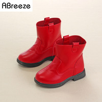 Size 26 36 Ankle Boots For Children Girls 2016 Fall Winter Chic Style Genuiine Leather Boots