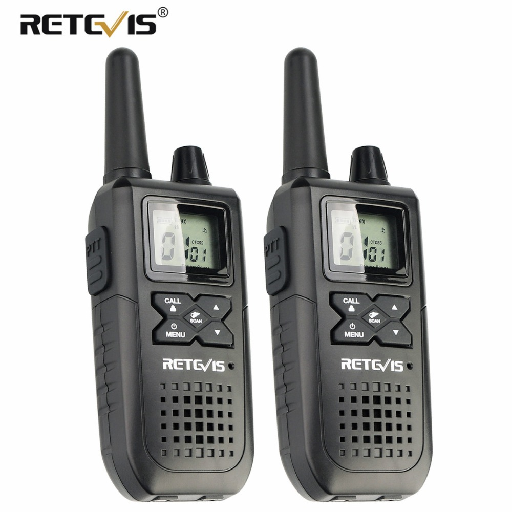 2 pcs RETEVIS RT41 NOAA Radio Wakie Talkie License free FRS Radio VOX USB Charging USA