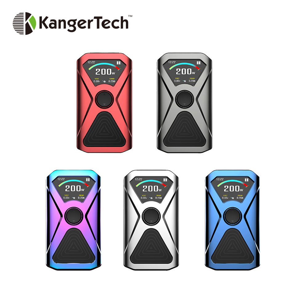 Original 200W Kangertech XLUM TC Box MOD with Easy Side Fire Button Powered By Dual 18650 Battery Vape Box Mod Vs Charon Mini original 218w hugo vapor rader mage tc box mod with nylon fibre frame powered by dual 18650 battery vape box mod vs storm230 mod