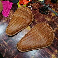 High Quality Handmade Solo Bobber Chopper Genuine Leather Seat for Harley Davidson Sportster 883 Iron
