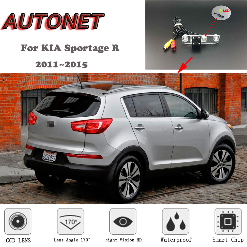 AUTONET HD Night Vision Backup Rear View camera For KIA Sportage R 2011~2015 CCD/RCA Standard /Parking Camera
