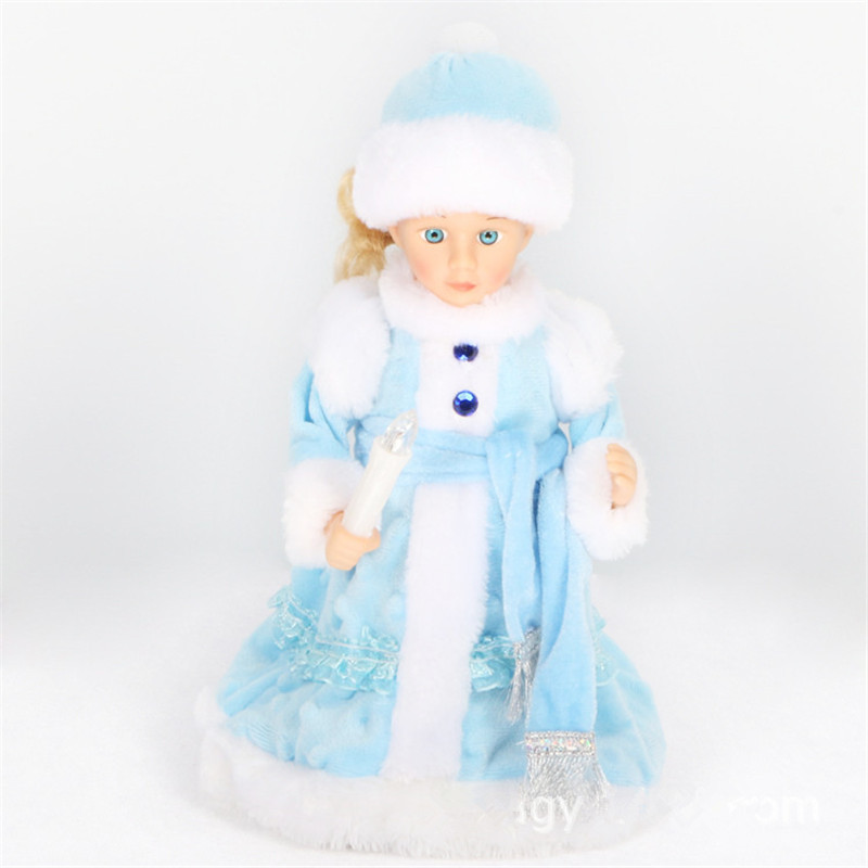 Russian Version Snow Maiden Santa Claus Doll Talking Toys Electric Musical Christmas Doll Decorations Christmas Gifts For Kids