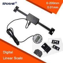 "Promo offer SHAHE 200mm 6 ""0.01mm digital linear scale external display DRO Magnetic remote digital display"