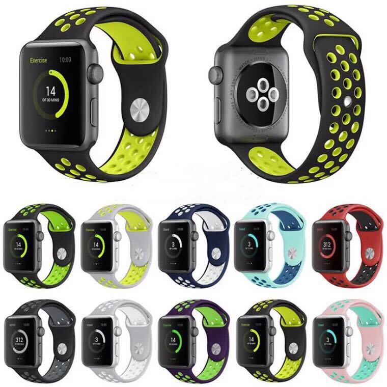 MUSEN  sport Silicone band strap for apple watch nike 42mm 38mm bracelet wrist band watch watchband For iwatch apple strap 3/2/1
