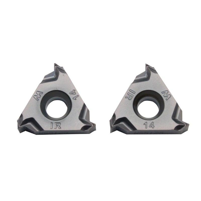 20pcs 55 degrees WS5152 16IR14W CNC lathe thread turning carbide insert цена