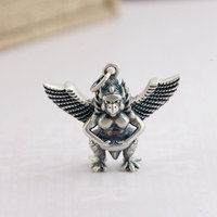 FNJ 925 Silver Bird Pendant Flying Wing 100% Pure S925 Solid Thai Silver Pendants for Women Men Jewelry Making