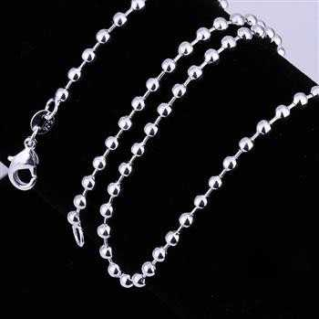 hot sell Best Gift silver chain 3M 16-24inch Bead Personalized SMTC006