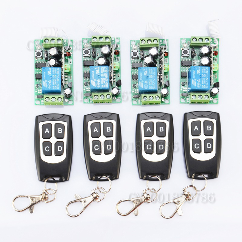 ФОТО 12V 1CH 10A Wireless Remote Control Switch Learning Code 315mhz/433.92mhz Receiver For Applicance Garage Door