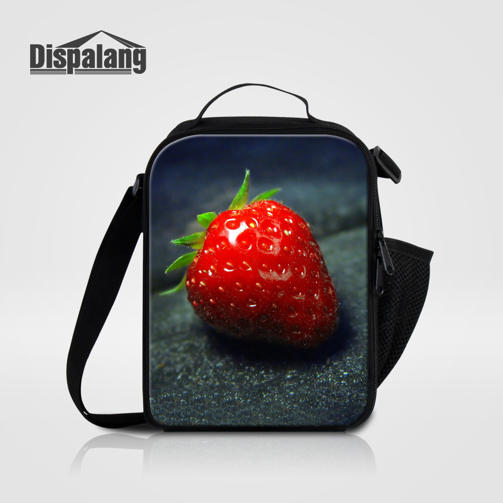 Dispalang 2018 lancheira thermo lunch bags cooler fruit strawberry printing lunch bag for women insulated food picnic lunch box