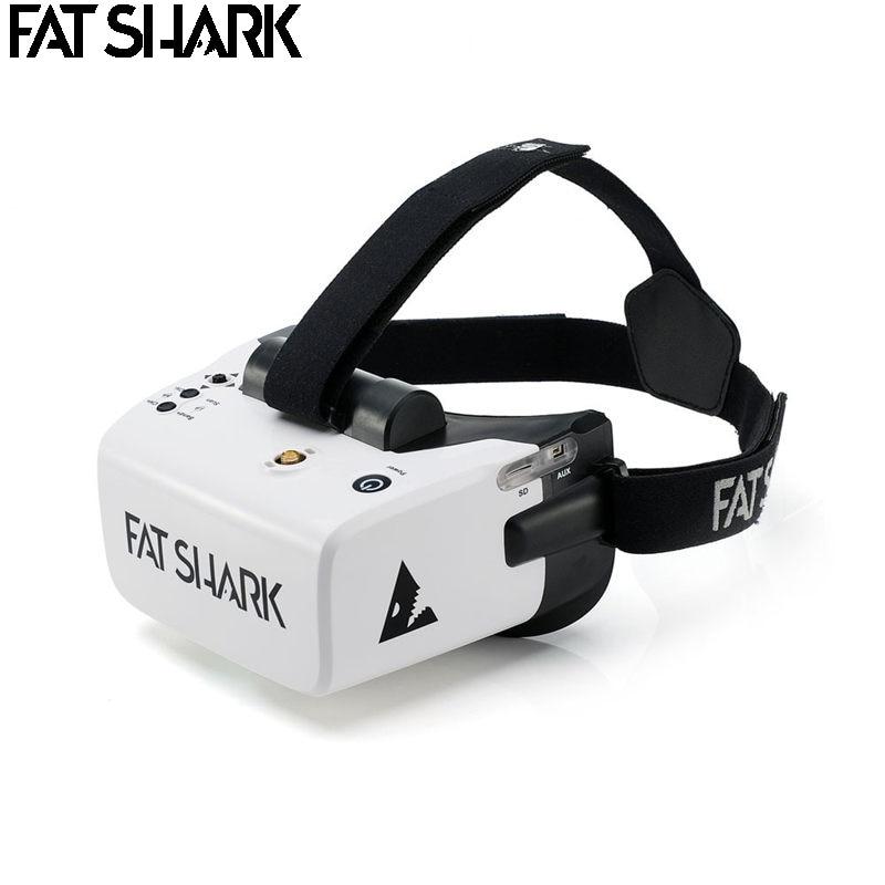 FatShark الكشفية 4 بوصة 1136x640 NTSC/PAL السيارات اختيار عرض FPV نظارات الفيديو سماعة المدمج في بطارية DVR-في قطع غيار وملحقات من الألعاب والهوايات على  مجموعة 1