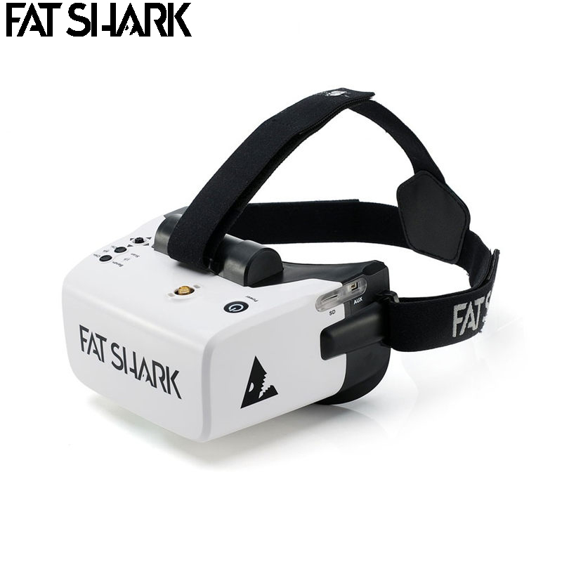 Fatrequin Scout 4 pouces 1136x640 NTSC/PAL sélection automatique affichage FPV lunettes casque vidéo batterie intégrée DVR